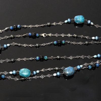 Turquoise and black keystone